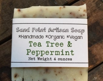 Organic Vegan Tea Tree & Peppermint Soap