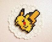 Pikachu Perler Bead Sprite + Optional Magnet Finish