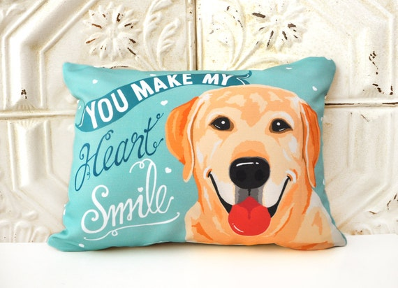 Labrador Art pillow - You Make My Heart Smile (Pre-Order)