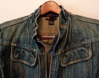 DIESEL Blue Denim Jacket Men's Size S