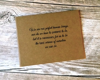 Inspirational Quote Note Cards: Set of 10 Kraft Inspirational Quote Note Cards