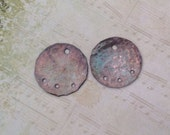 Discs. Aged Copper,connectors,dangles