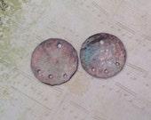 Discs. Aged Copper,connectors,dangles
