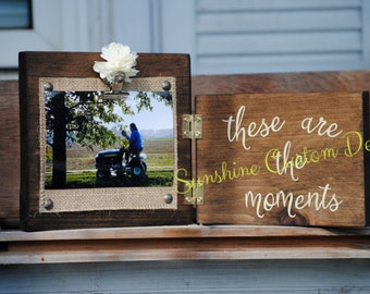 these are the moments photo board/photo holder
