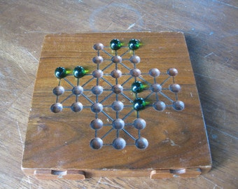 Wood and Marble Board Game