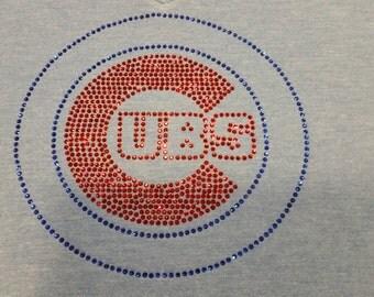 Cubs rhinestone shirt