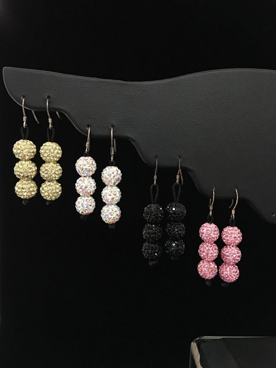 Crystal Ball Earrings- Free Shipping within the USA!