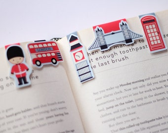 London Mini Magnetic Bookmarks