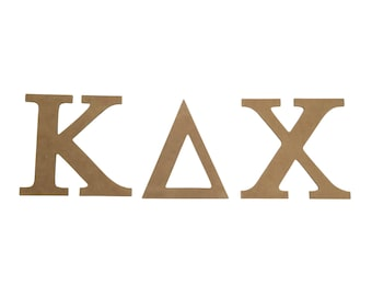 kappa delta chi 75 unfinished wood letter set