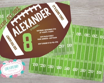 Football birthday party invitation. printable. digital download