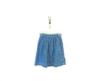 90s Vintage Short Denim Banana Republic Drindl Skirt
