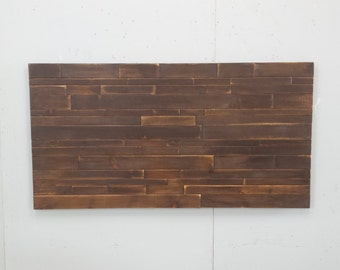 Floating Headboard / Free Shipping / Rustic Wood Headboard / Queen Size Headboard / Reclaimed Wood Bed