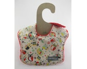 SALE - Owl Frenzy on this leakproof baby bib (Ready to ship)