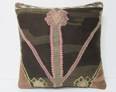 """Turkish cushion 18"""" sofa throw pillow kilim pillow cover decorative pillow case couch outdoor floor bohemian boho ethnic rustic accent 21807"""