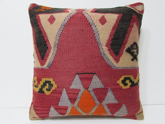 20x20 Kilim Pillow 20x20 Decorative Pillow 20x20 Pillow