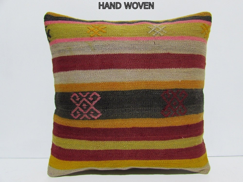 20x20 kilim pillow 20x20 decorative pillow 20x20 pillow cover