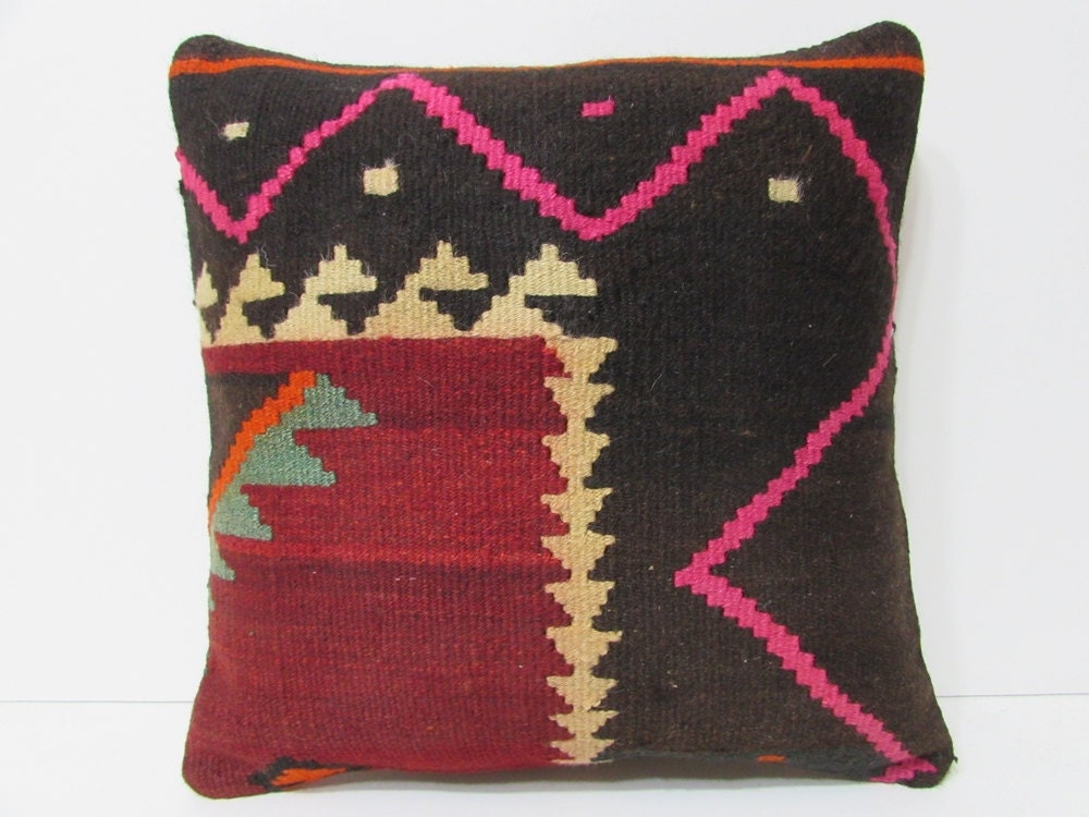 Turkish Kilim Throw Pillows : Turkish cushion 18 sofa throw pillow kilim pillow cover