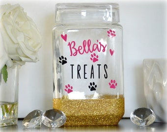 Dog Treat Jar, Dog Treat Container, Dog Treat Holder, Dog Treat Canister, Custom Dog Treat Jar, Personalized Dog Treat Jar, Dog Lover Gift