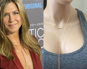 Rosary Lariat Y Necklace / Celebrity Style / As Seen On Jennifer  / Carnelian Gemstone Necklace / 14k Gold Fill Chain / Gemstone Lariat