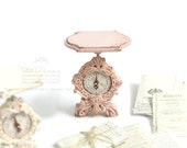 Adorable Pastel Pink Shabby Chic Vintage Kitchen Scale in Dollhouse Miniature Kitchen Accessories 1/12th