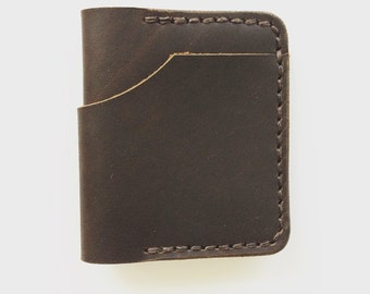 Leather Inside Out Bifold - Brown