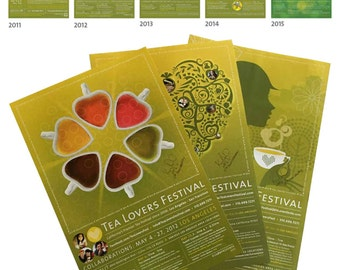 Tea Lovers Festival: Set of 3 Posters > Individually Signed