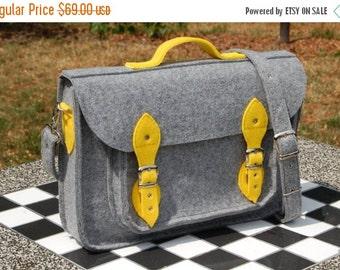 Winter Sale 40% Laptop bag 15 inch with pocket, vegan bag, felt satchel, Macbook Pro 15 in, Custom size Laptop bag, sleeve, case