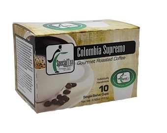 Colombia Supremo, Single Serve Arabica Coffee Cups (10 count)