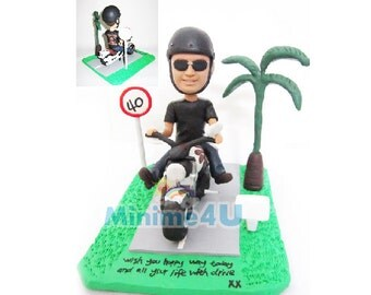 Motorcycle rider personalized custom figurine 3d doll 100% handmade (Free Shipping Worldwide)