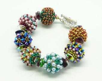 Beaded Bead Crystal Bracelet