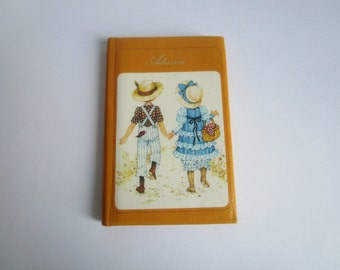 Lovely vintage address booklet Miss Petticoat, collectible
