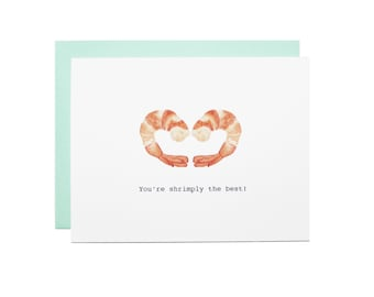 Shrimp Heart 'You're Shrimply the best' card