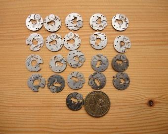 Set of 21 watch rings - Featured - Steampunk supplies - Watch movements parts / Watch brass movement parts Steampunk art / robot mix - WW29