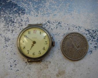 Nice old Antique wrist watch - Featured - Steampunk Lovers supplies - Watch movements - Watch movements - Steampunk art supplies  Sm22a