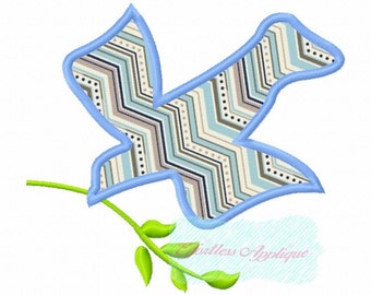 Dove with Branch Applique Design Buy2 Get1
