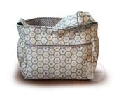 Mint green and grey honeycomb geometric diaper bag tote bag