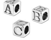 5 mm Sterling Silver Alphabet Beads