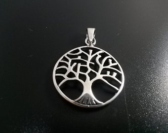 1 pcs   Tree Of Life Pendants  , Tree of Life Charms  Sterling Silver