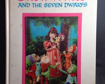 Snow White and the Seven Dwarfs 1968 HC Book