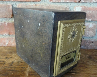 POST OFFICE MAILBOX Jewelry Holder Safe Lock Box