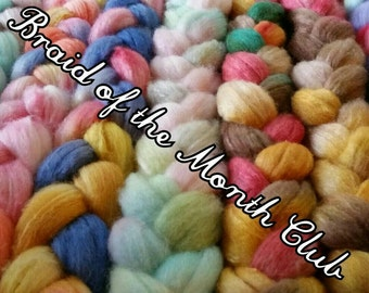 Braid of the Month Club - Fiber Club - monthly subscription for one month