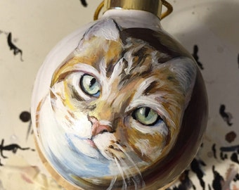 Custom Ornaments, Dog and Cat Lover, Pet Portrait, Christmas Gift