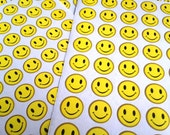 happy yellow face sticker smiley face sticker happy diary sticker facial expression funny emoticons happy cartoon well done planner sticker