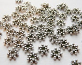 50 Tibetan Silver Flower Spacer Beads 6.5mm