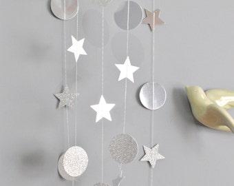 Silver star glitter garland #makeforgood