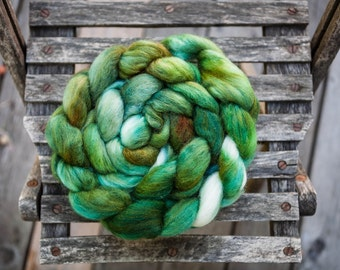 Polwarth Mohair Silk Hand Dyed Combed Top Wool Spinning Fiber Roving