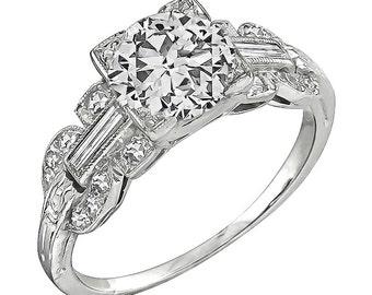 Vintage GIA Certified 1.02ct Diamond Engagement Ring