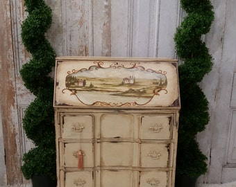 Hand Painted Secretary