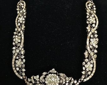 Late victorian,early Edwardian French paste necklace,circa 1885 to 1905