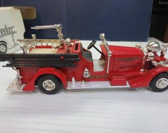 Ertl 1937 Ahrens-Fox Fire Truck Bank